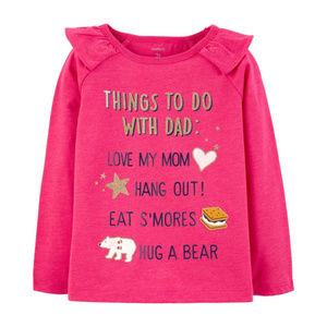 Carters 4T Pink Long Sleeve Top Tee Toddler Girl